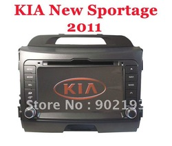 Latest map!7 inch car gps navigation for kia 2011 New Sportage navigation(China (Mainland))