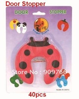 Cartoon Ladybug Door Stopper Finger Guard to Stop Baby Hurting by Closing Door Animal Baby Safety Protector Door Stop 40pc SF105