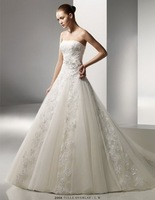 Free Shipping!embroidery strapless ball gown luxury wedding dress 2013 new style