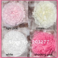 Wholesale - 6 yard/lot   4colors for your choose 3'' chiffon lace  flowers Free Shipping