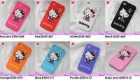 10 PCS Hello Kitty Silicone Case Cover skin For iPhone 4 4G FREE SHIPPING