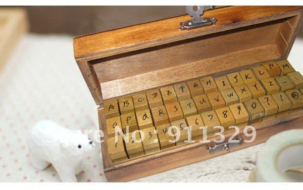 Best selling! New Creative Letters&Numbers Wood Stamp Set/DIY Stamp. Free shipping! Retail&Wholesale(China (Mainland))