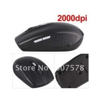 Black PC 2.4GHz Wireless 10m 2000dpi Optical Mouse Mice