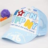 Children's hat wholesale children 76 spell color baseball cap nets cap baby letters of cap summer