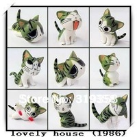 Free Shipping 9 pcs Cute Cate / anime figure / anime peripheral / accessories / birthday present in cabin furnishing articles