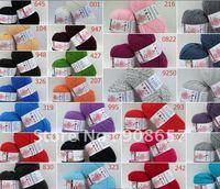 5*100g Skeins 96% Wool 4% Milk Cotton Fiber Coat Sweater Yarn lot 500g with Red, Black, Yellow, Green, Orange, Purple 26 colors