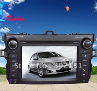 "2012 cheapest 7"" TOYOTA COLLORA car dvd with GPS  Bluetooth Win CE6.0 128M memory Ipod Free Shipping"