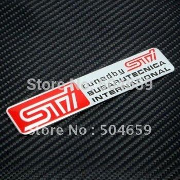 20pcs 3D Aluminum Alloy Badges STI SUBARU Emblem WRX Legacy Forester Sticker