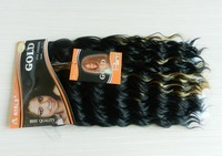 free shipping noble gold synthetic hair braiding hair noble gold synthetic hair freedom 1B-27# 5pcs