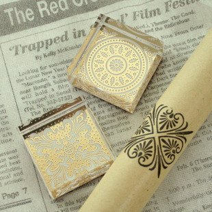Best selling! NEW classical flowers crystal square stamp/gift stamp/. Free shipping! Retail&Wholesale