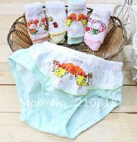 Free Shipping 12pcs/lot lace pattern cartoon boy / girl underwear, children's briefs & boxer shorts high quality