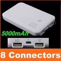 free shipping 1pcs/lot 5000mAh Portable Battery Power Bank Charger for Sony Ericsson Xperia Neo Mt15i