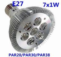 10pcs/lot Super Bright E27 PAR/20/PAR30/PAR38 7W  AC85~265V  LED light  Free shipping