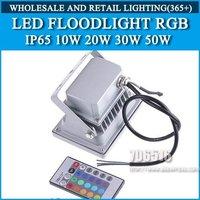 LED Floodlight RGB Remote control color IP65 AC85-265V 10W Free shipping/DHL