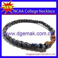 FIFTEEN (15) Georgia Tech Yellow Jackets Braided Titanium Necklaces