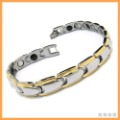 "Min order $15, can mix  Stainless Steel Magnetic Therapy Mens Bracelet 8.5""  10013467"