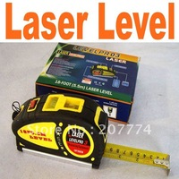 Laser spirit level laser level kit with tape measure Laser Extended type 5.5m tape inside Free Shipping