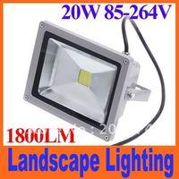 20W 85-264V 1800LM 6500-7000K White Landscape Lighting Waterproof LED Flood Light outdoor Floodlight street lamp free shipping