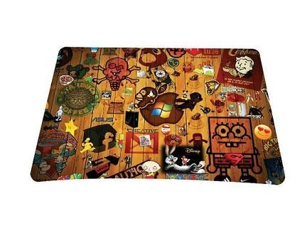 Special Design Brown Friendly Meterial Slim Anti-Slip Snug PC Mousepad MicePad Mouse Mat Mice Mat Laser Optical Mice Mouse(China (Mainland))