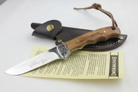 2012 New Arrivel Tactical Straight Survival Knife (Whole Blade) 57HRC 440 Free Shipping (340g)