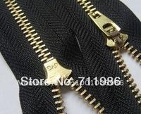Custom size & colour ,whole sale brand new metal #4 YG jeans zipper,brass teeth