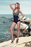 Free Shipping Classic Relax Style Women Swimwear Clothing Lady Girl Swimming Dress Sexy Deep V Bikini Beachwear Wholesale WS1404