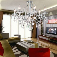 Free shipping modern crystal chandelier New Fashion European 6 Lights Living Room/Bedroom/Restaurant Crystal Chandelier