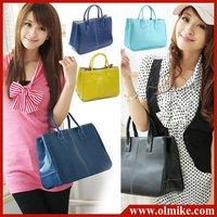 free shipping Hot sale spring 2014 ladies' designer new Eur street belt buckle pu bags handbag with wallet for women BB010