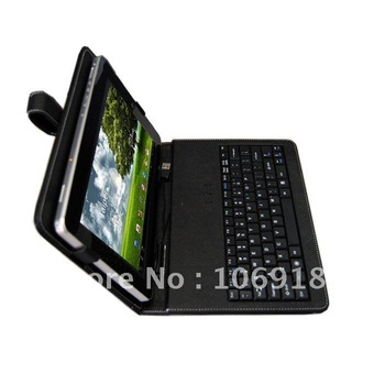"""Leather Case USB Keyboard +Stylus +Film +OTG cable for 10.1"""" TOSHIBA Excite 10 AT305 AT300 AT205 TABLET Free Shipping"""