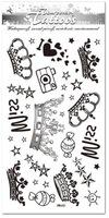 2012 New Tattoo Stickers.Art # HM460.Camera / Crown / Star Tattoo Sticker.High Quality Wholesale Free mix 100pcs & FREE SHIPPING