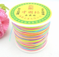 Free P&P 100M/Roll 1MM DIA. MULTICOLOUR Wholesale Braided Nylon Chinese Knot Cord Beading String Jewelry Making Kniting Crafts