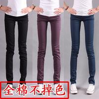 Candy pants women's 100% cotton skinny pants jeans plus size legging trousers mid waist pencil pants 3008