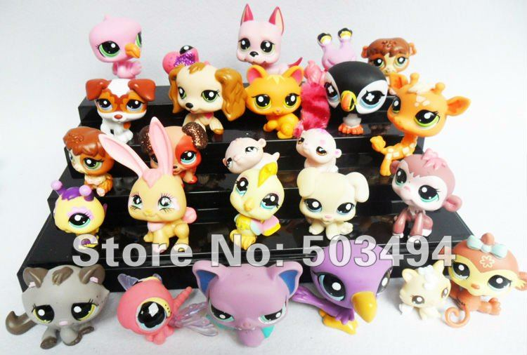 Free shipping 10PCS/LOT Hasbro My little pony Loose Action Figures toy My littlest Pony Figure doll