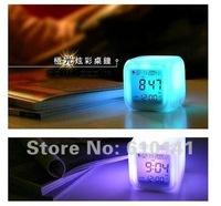 Fashion New Glowing LED Seven Color Change Digital Alarm Mood Clock, Lovely Alarm Clock, Table Clock