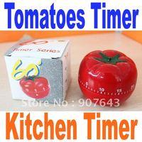 Free shipping Tomato timer / vegetables reminder / patent durable movement / kitchen good helper/mini timer
