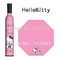 Freeshipping 2014 New 3pcs/lot wine bottle Umbrella Fashion Umbrella  Folding Umbrella with Hello Kitty Design