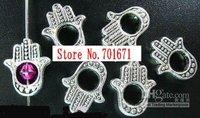 Free Shipping 200pcs/lot Tibetan Silver hamsha hand bead frame ,Jewelry Findings-  C04