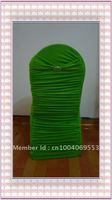 Free shipping - fashional lime green    ruffle spandex chair cover /ruffle lycra chair cover