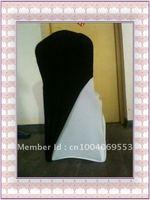 Free shipping - fashional black spandex chair cover slip