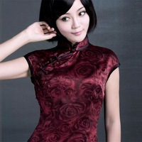 Rose X . YING a . chinese style new classical spring and summer silk cheongsam