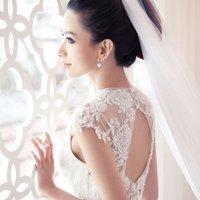 Royal lace flower bride racerback fish tail train wedding dress formal dress 2014 new arrival bridal dress