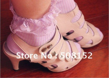 free shipping~2012 New  design cotton  with lace  stockings/women summer cotton socks /lady socks 12pcs/lot