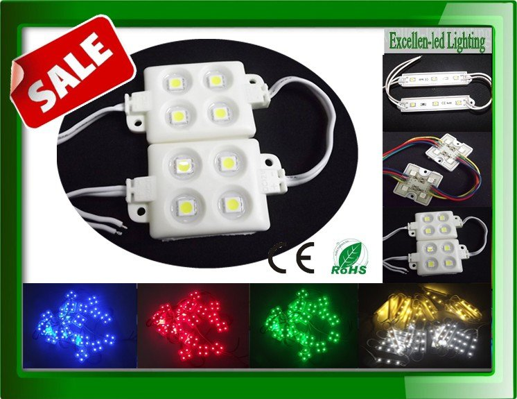 led outdoor advertisment led module 5050 4 led back lighting waterproof 12V RGB warm white cool white