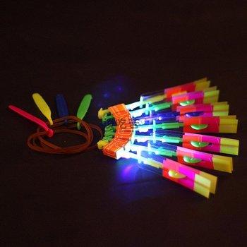 Free shipping!  LED Flying umbrella amazing arrow helicopter kids toys