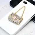 Free shipping!!! Fashion Elgant High Quality Rhinestone & Alloy Bag Shape Mobile Phone Beauty DIY Accessory