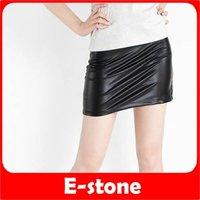 D19+Free Shipping Hot Sexy Woman Joker Copy Skin Tight Render Short Mini Imitation Leather Skirt