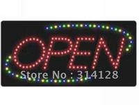 LED open sign (model NO:HSO0007) 142LED (R:94pcs;G:16pcs;B:16pcs;Y:16pcs) 1PCS