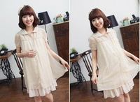 Free shipping,Newest free shipping Maternity dress/ loose chiffion dress  for  pregnant women, pregnant woman skirt ML0612