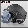 ABS Portable-type &quot; IBK 512 &quot; Model Half Vespa Open Face Scooter Matt Black Helmet , Motorbike Casco , Cycling Casque For Summer