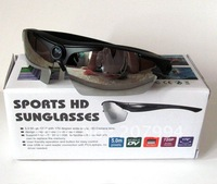 wholesale 720P 5.0MP  Hidden Sunglasses Camera Mini HD DV Eyewear Recorder with 170 degree wide-angle & 5  pairs colored lenses